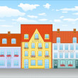 Street in old town — Stock Vector #4541559