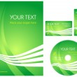 Green corporate style layout — Stock Vector