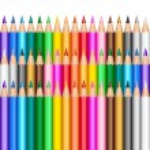 Color pencils background — Stock Vector