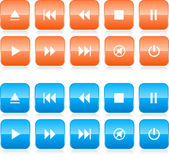 Media player button set — Stock Vector