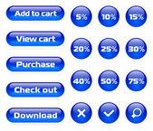 Online shop button set — Stock Vector