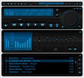 Kompletny odtwarzacz multimedialny interfejs — Wektor stockowy