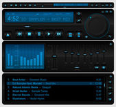 Volledige multimediaspeler interface — Stockvector