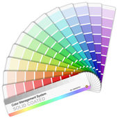 Pantone color palette — Stock Vector