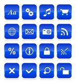 Web button set — Stock Vector