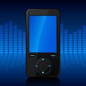 Portable media player — Stock Vector