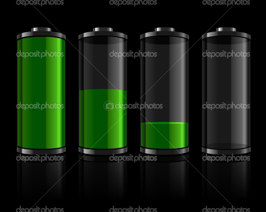 Battery levels set  Stock Vector #4541434