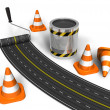 Road construction concept — Stock Photo