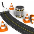 Stock Photo: Road construction concept