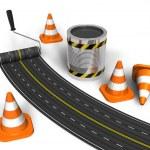 conceito de construção de estrada — Foto Stock