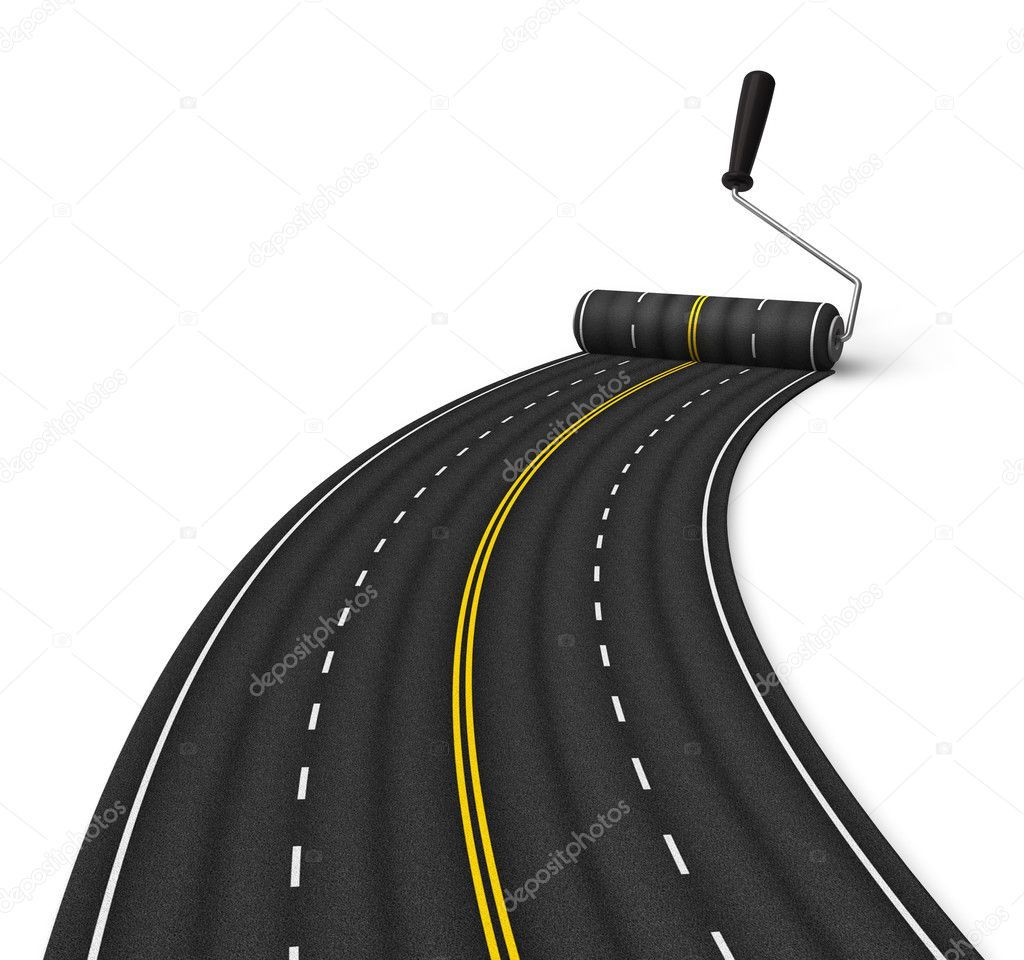 Road construction concept — Foto Stock #4565057