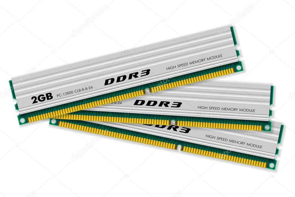 DDR3 memory modules — Stock Vector #4562887