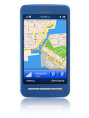 GPS navigator in touchscreen smartphone — Foto Stock