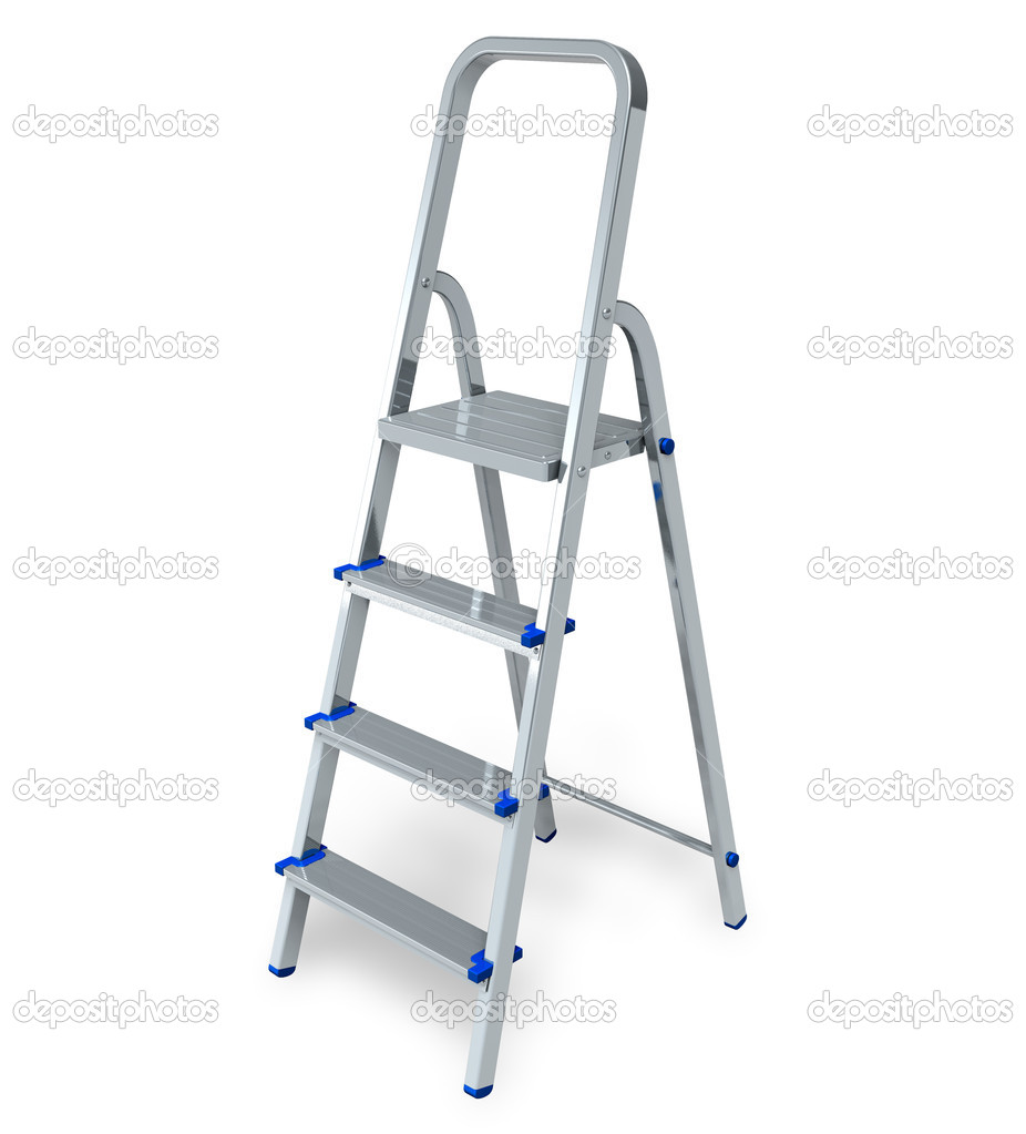 Stepladder isolated on white background — Stock Photo #4680780