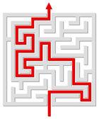 Opgelost labyrint — Stockvector