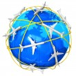 International air travel concept - Stock Photo