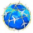 International air travel concept — Stock Photo
