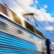 Stock Photo: Speed train with motion blur