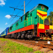 Diesel passenger train — Stock Photo