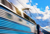 Speed train with motion blur — Stock Photo