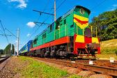 Diesel passenger train — Stock Photo