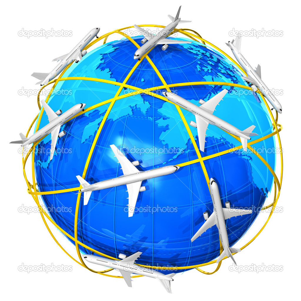 International air travel concept — Stock Photo #4723307