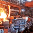 Open-hearth workshop of metallurgical plant — Stock Photo