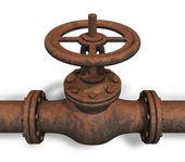 Zrezivělý ventil — Stock fotografie