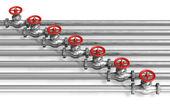 Pipeline with valves — Stock Photo