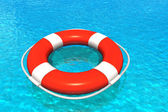 Lifesaver in water — Stock Photo