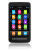 Pekskärm smartphone — Stockfoto