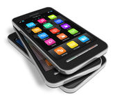 Sada dotykový smartphone — Stock fotografie