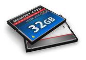 Cartes mémoire compactflash de haute vitesse — Photo