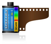 35mm film canister — Stock Vector