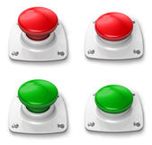 Set of pressed and depressed buttons — Stock Photo