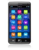 Touchscreen smartphone — Stock Vector