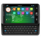 Side slider touchscreen smartphone — Stock Vector