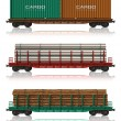 Royalty-Free Stock Photo: Set of freight railroad cars
