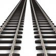 Two railroad tracks — Stock Photo