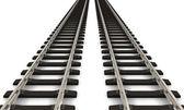 Two railroad tracks — Stock Photo