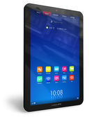Vertical tablet PC — Stock Photo