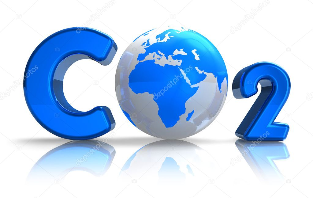 Atmospheric pollution concept: CO2 formula — Stock Photo #5034610