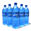 Set of soda drinks in plastic bottles — Stock Photo