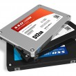 Set of solid state drives (SSD) - Stock Photo