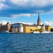 Panorama of the Old Town in Stockholm, Sweden — Стоковая фотография