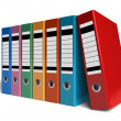Row of color office folders - Stock Photo