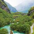 Stock Photo: Norwegimountain scenery