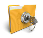 Security concept: locked folder — Stock Photo