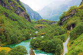 Norwegian mountain scenery — Stock Photo