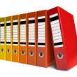 Row of color office folders — Stock Photo #5185964